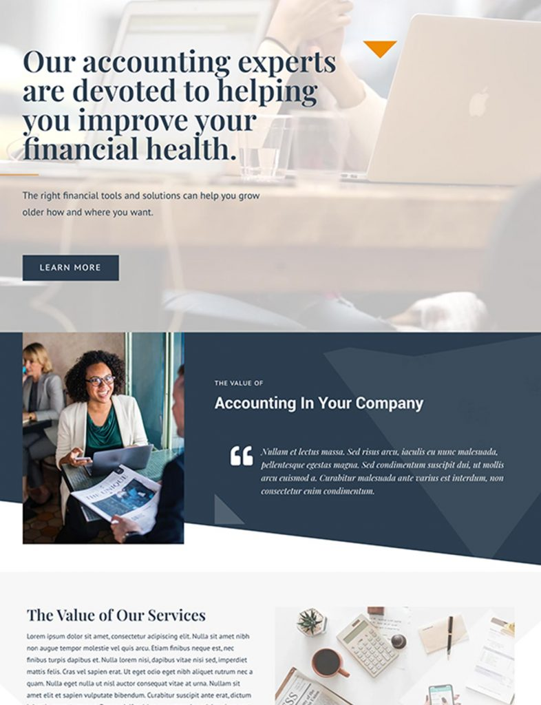 Accounting Firm Website Template
