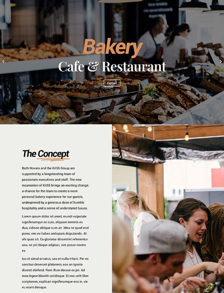Bakery Website Template 112