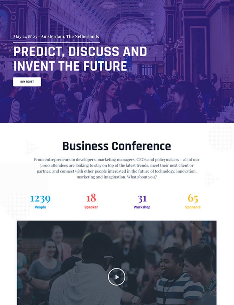 Conference Website Template 7