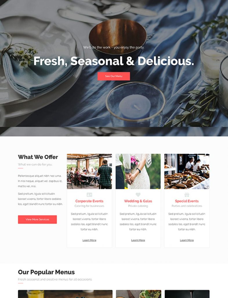 Catering Business Website Template 80