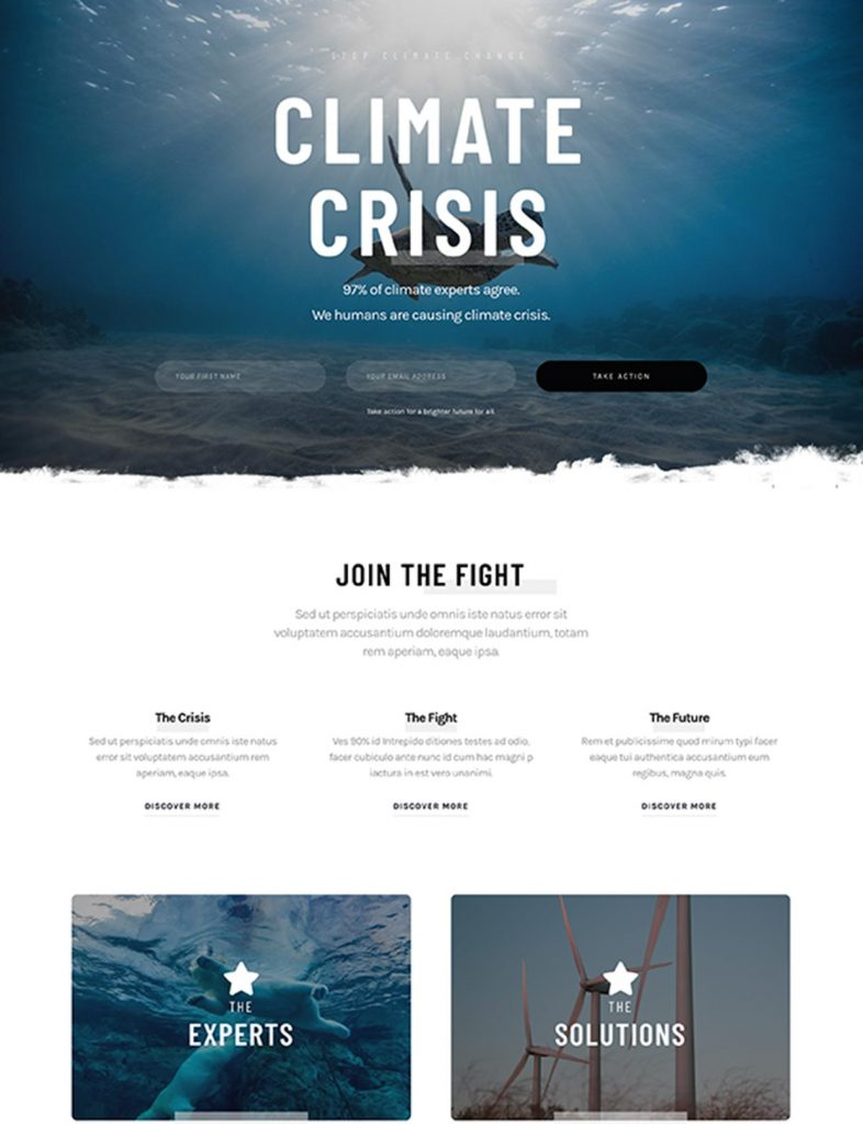Climate Change Website Template 5