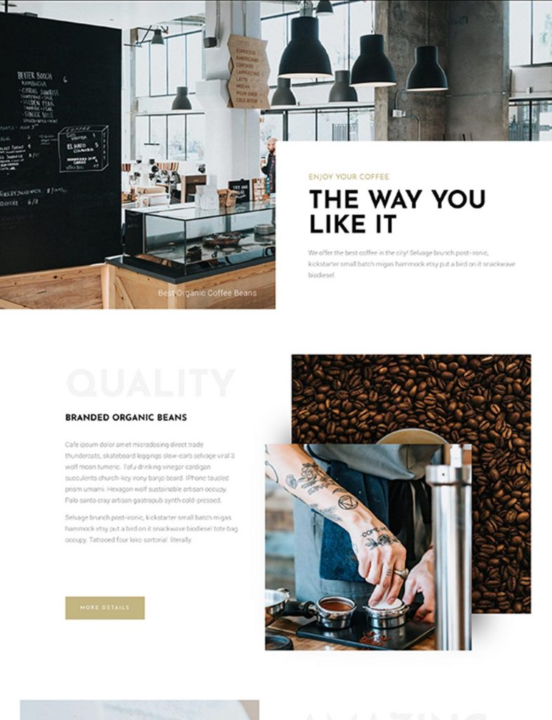 Coffee Shop Website Template 139