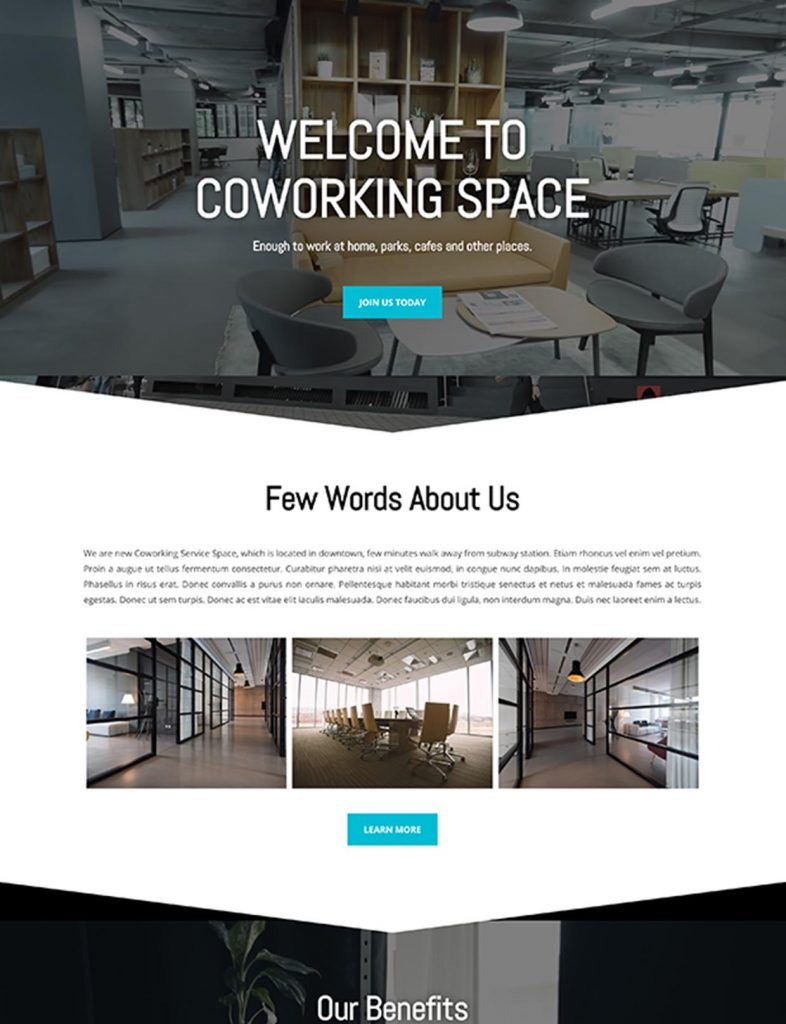 Coworking Space Website Template 99
