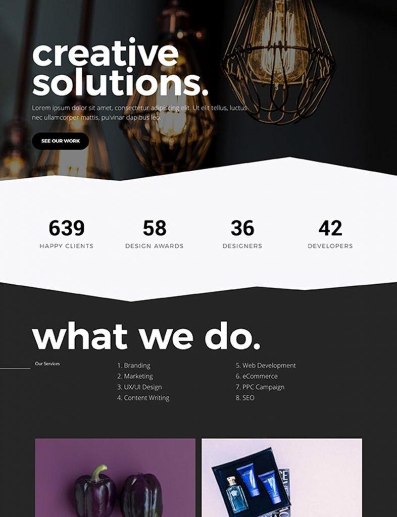 Creative Agency Website Template 22