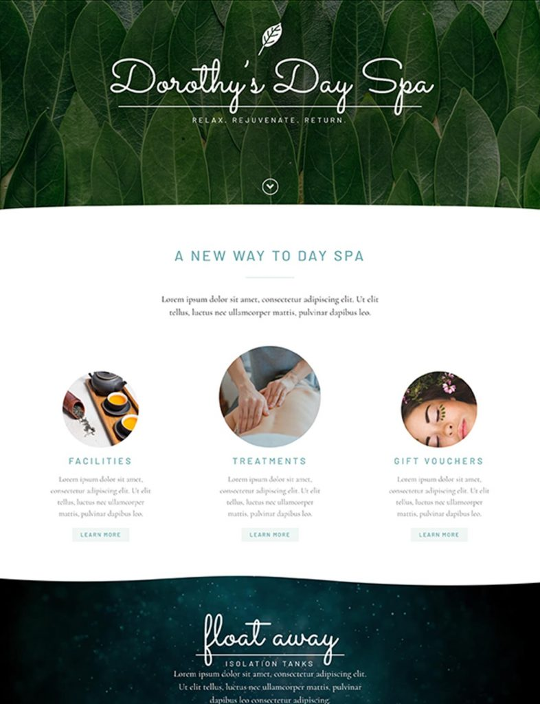 Day Spa Website Template 88