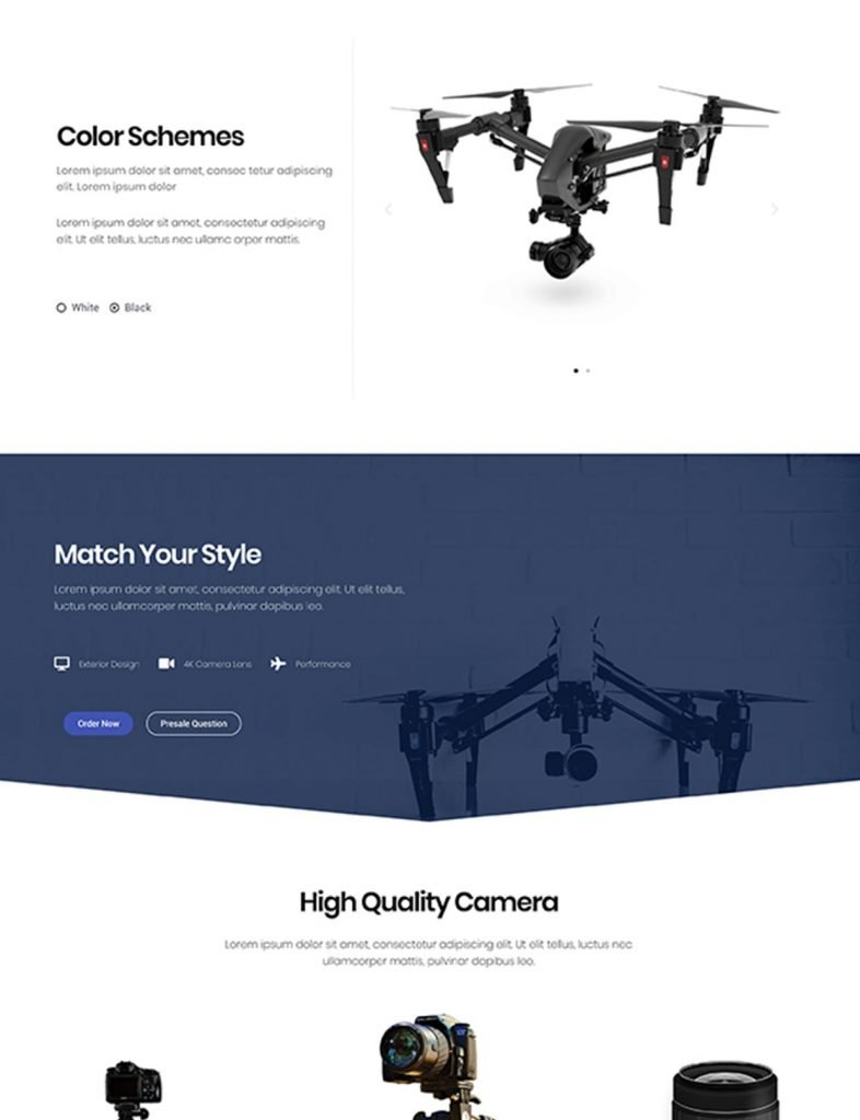 Electronic Product Website Template 80