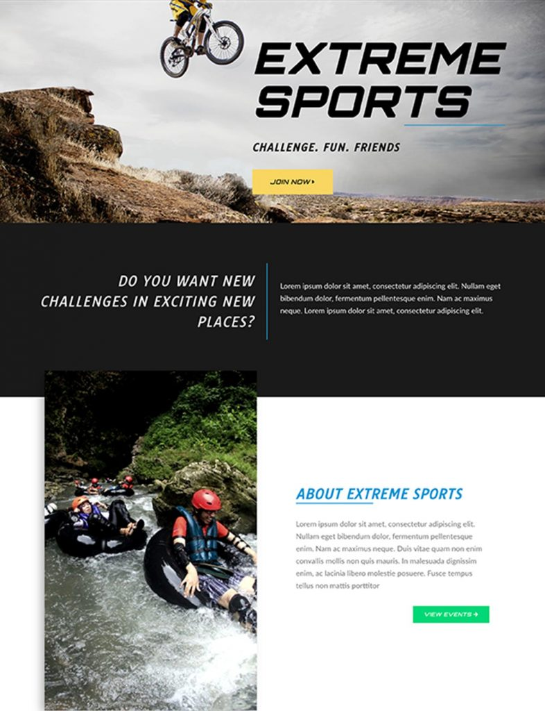 Extreme Sports Website Template 92