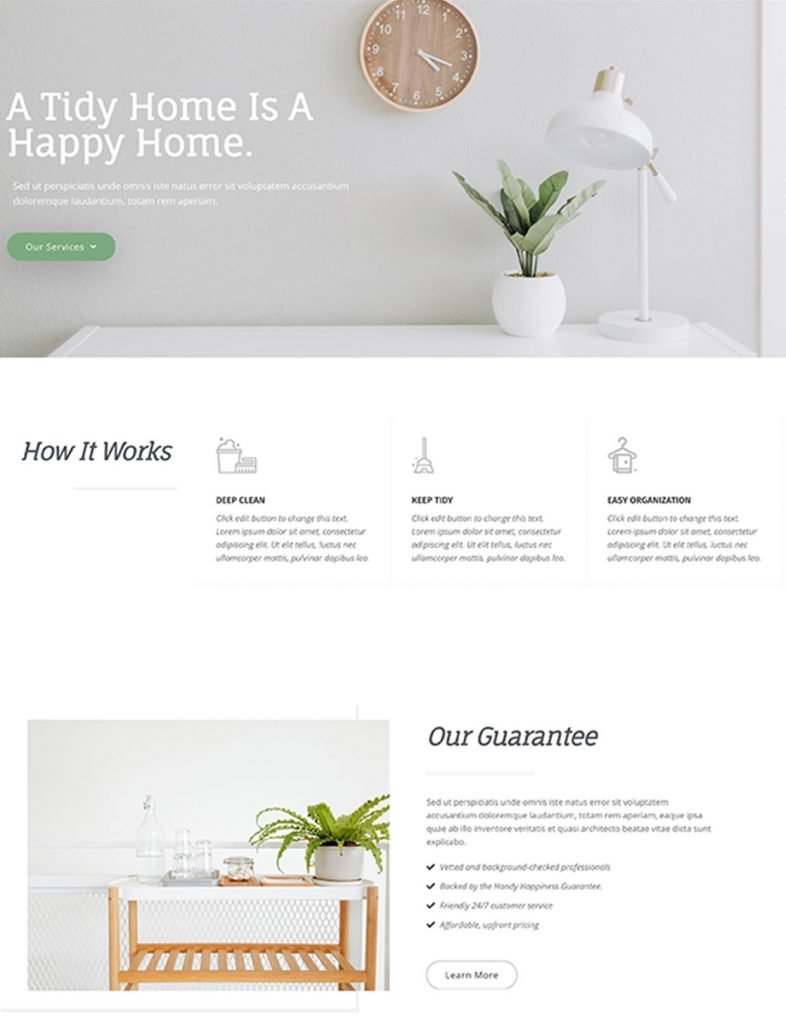 House Cleaning Company Website Template 85