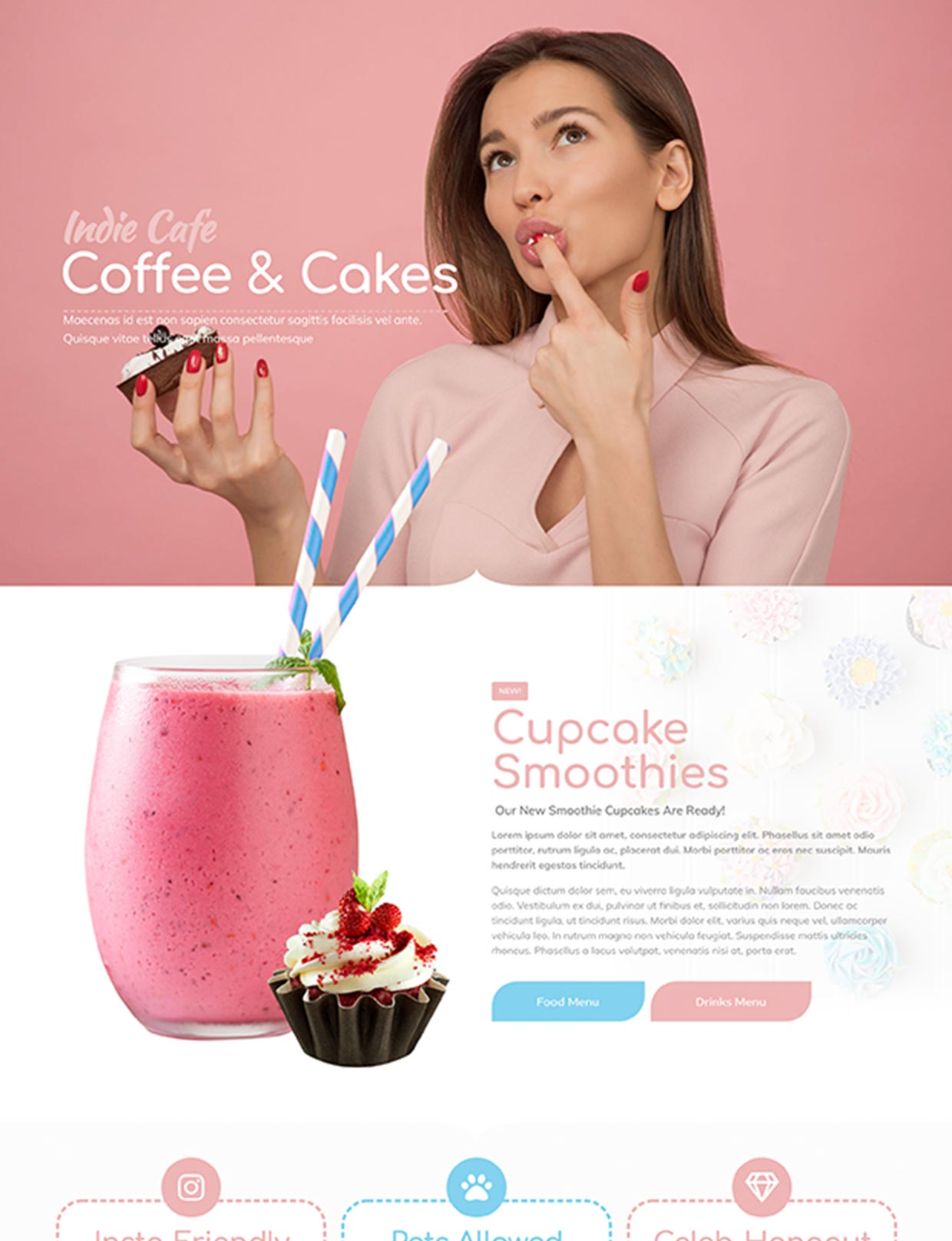 Coffee and Cakes Cafe Website Template