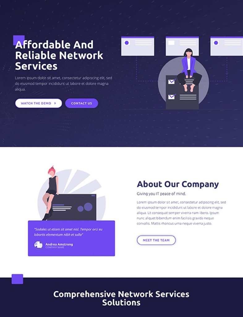 Internet Company Website Template 9