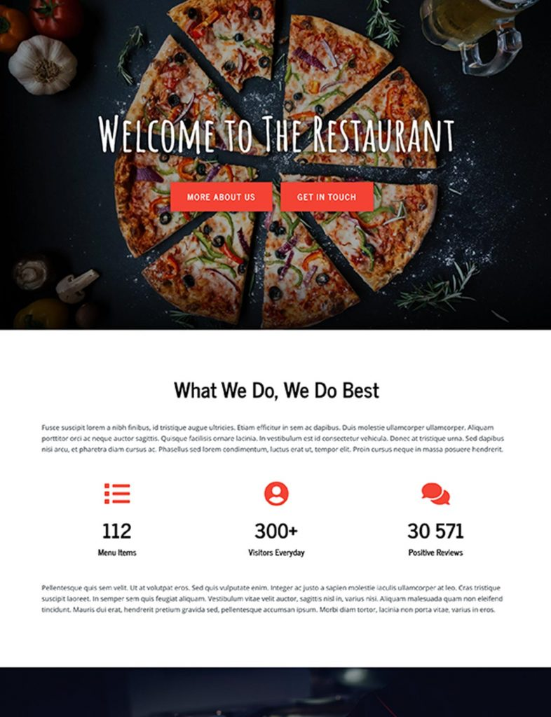 Italian Restaurant Website Template 37