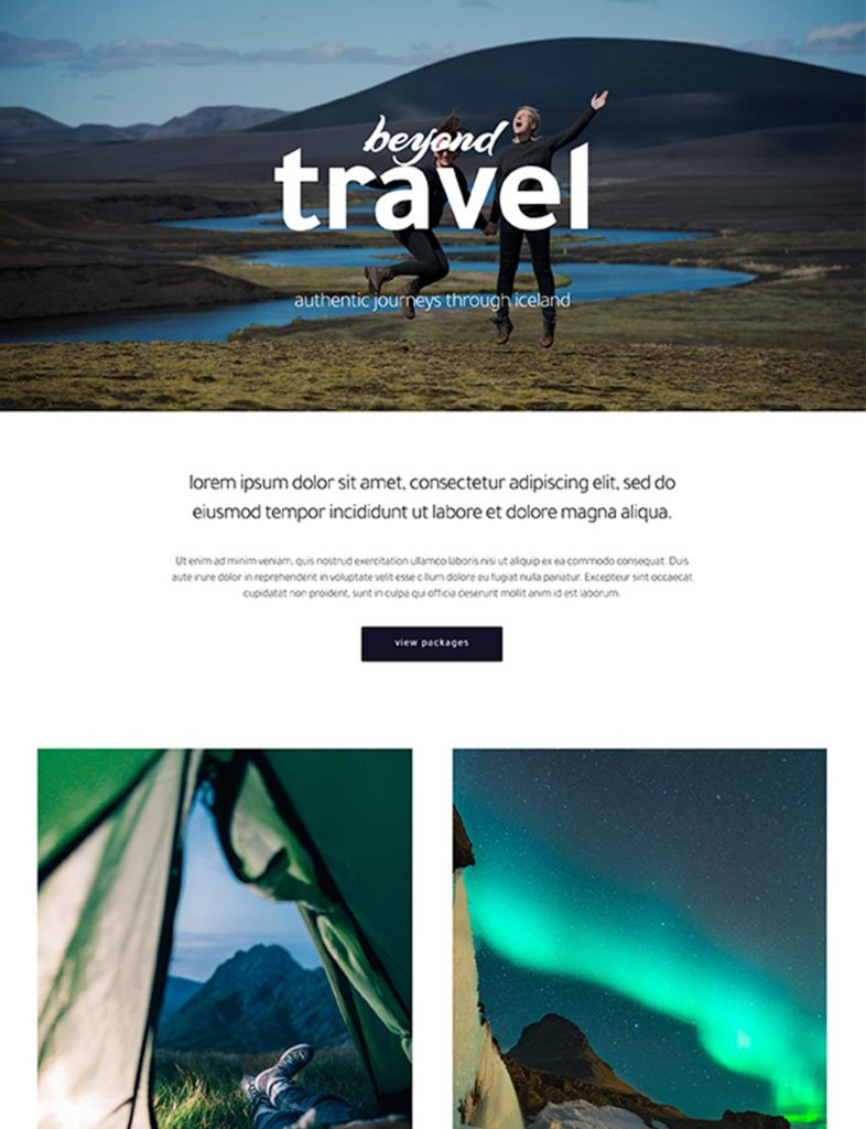 Travel Company or Tourism Website Template