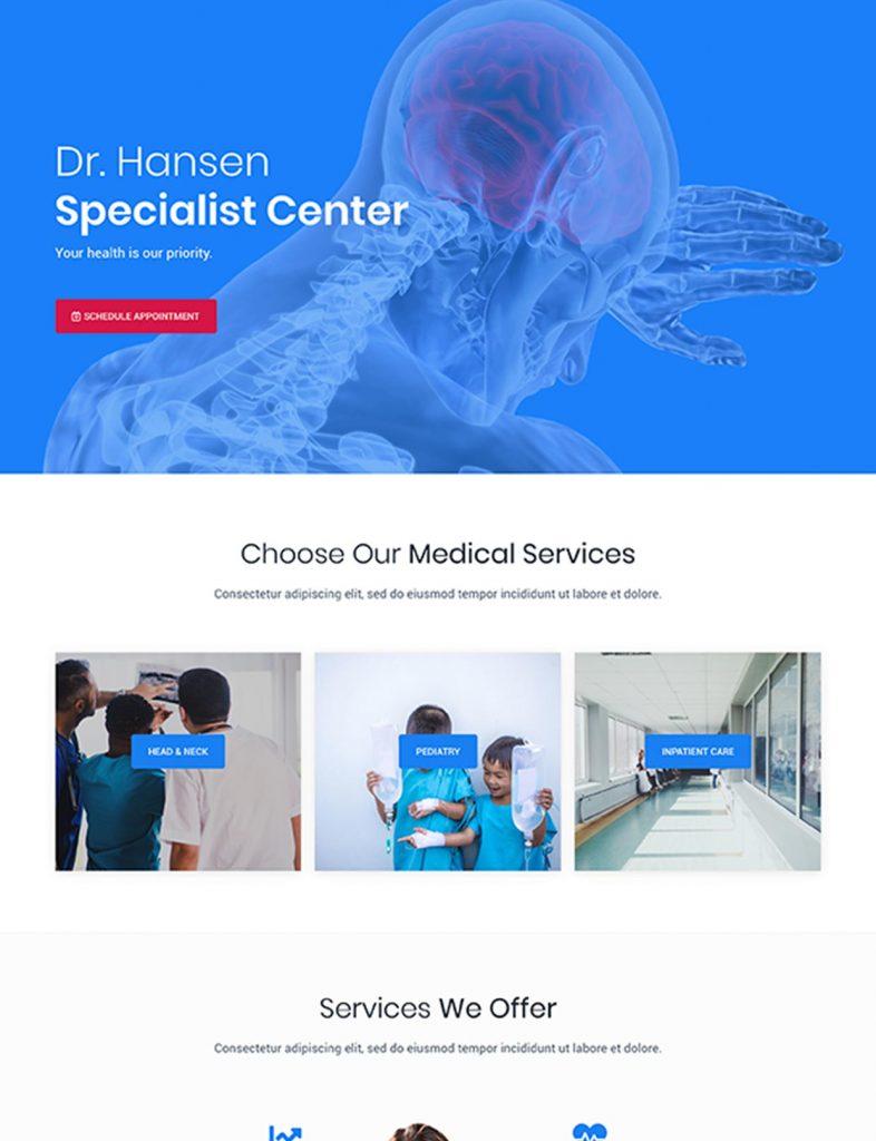 Medical Practice Website Template 70