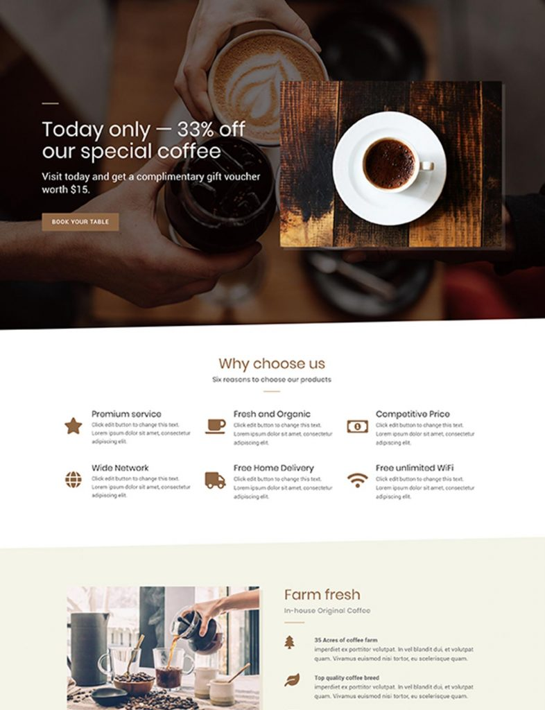 Modern Restaurant Website Template 35
