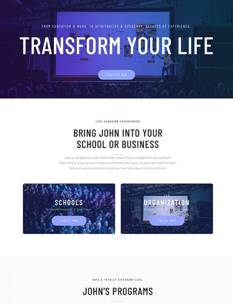 Motivational Speaker Website Template 93