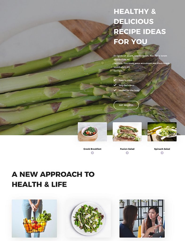 Nutritionist Website Template