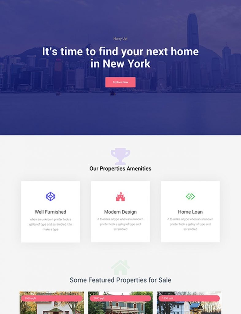 Real Estate Agent Website Template 1