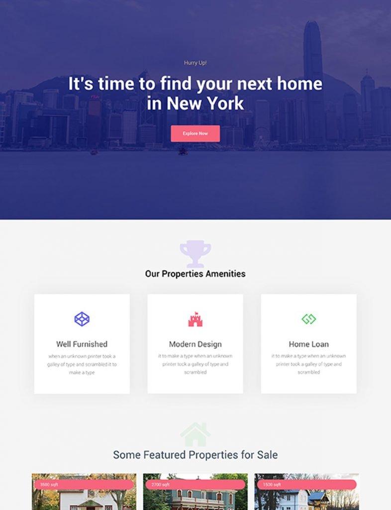 Real Estate Agent Website Template 53
