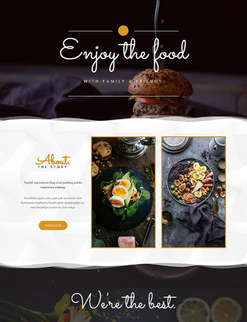 Restaurant & Café Website Template 147