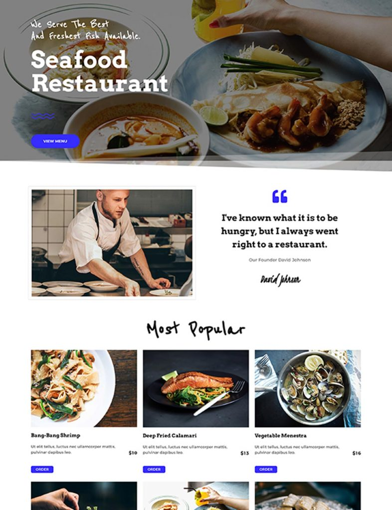Seafood Restaurant Website Template 39