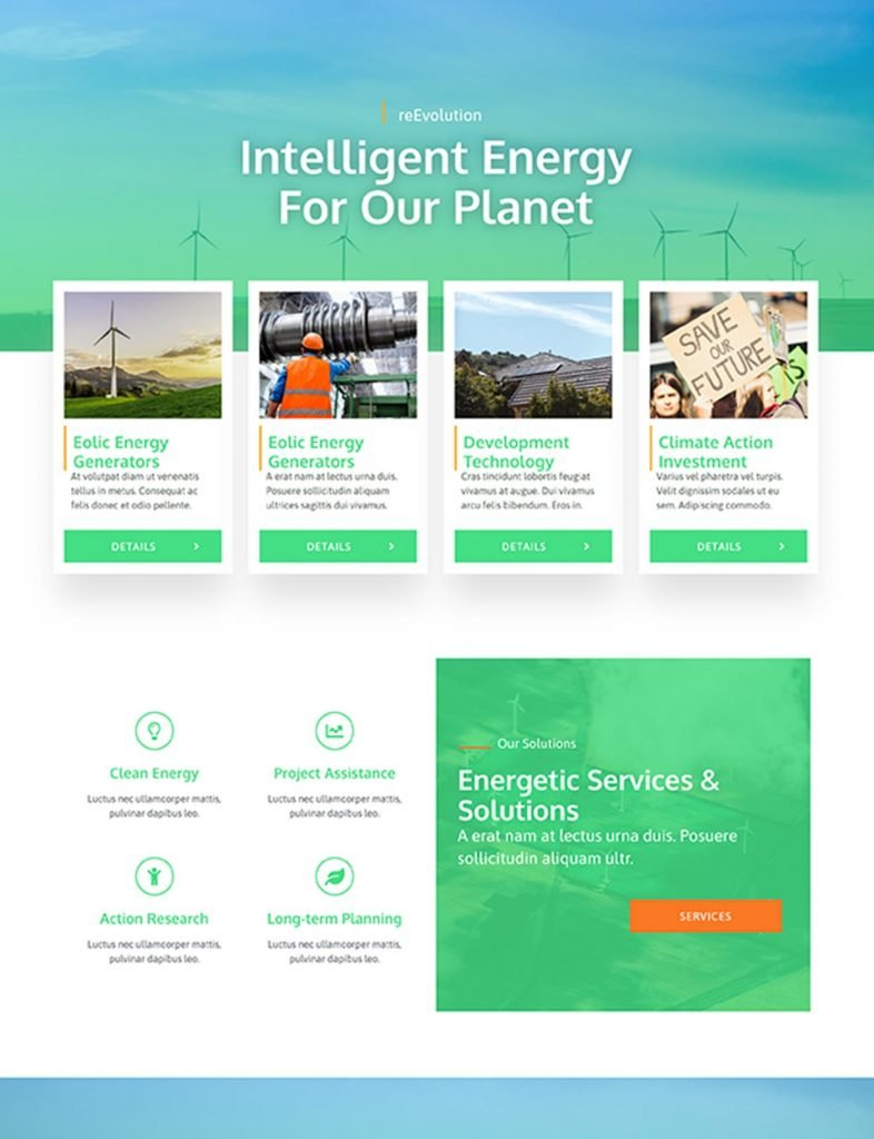 Solar Company Website Template 1