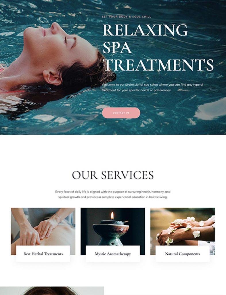 Spa Salon Website Template 69