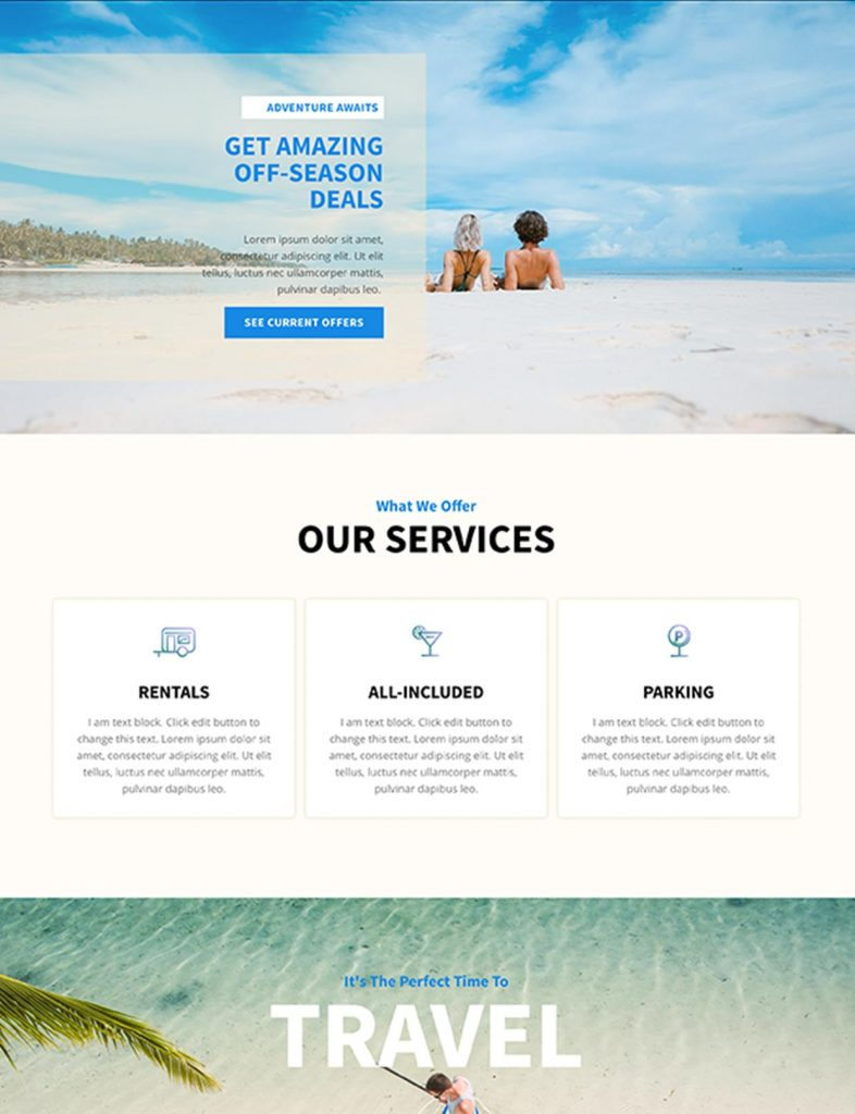 Travel Agency Website Template 17