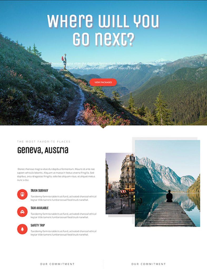 Travel Business Website Template 47