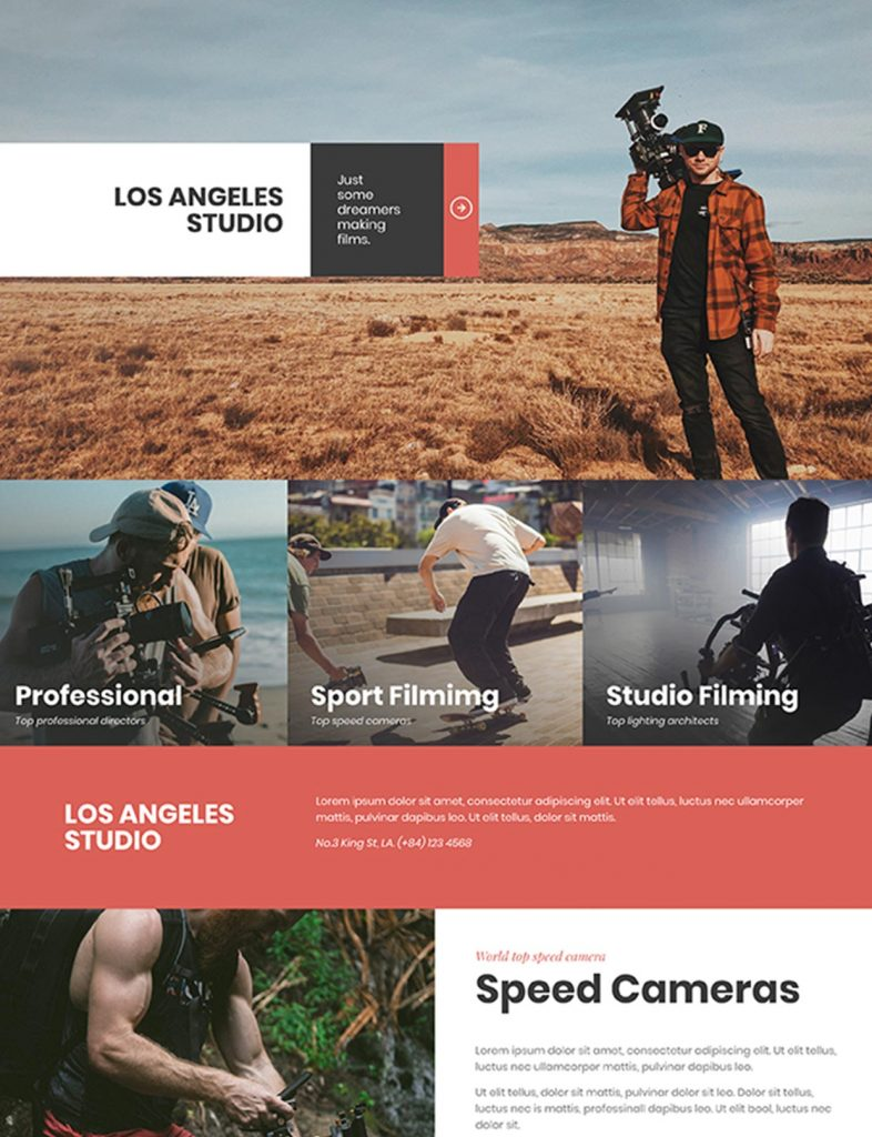 Video Production Website Template 1