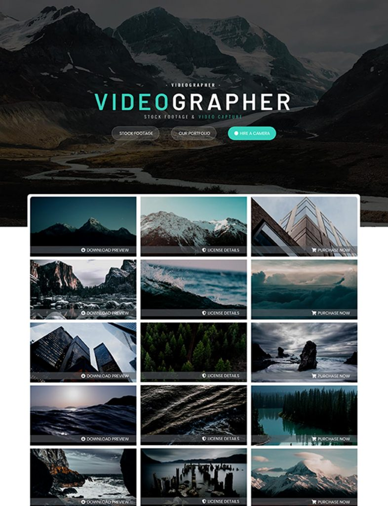 Videographer Website Template 102