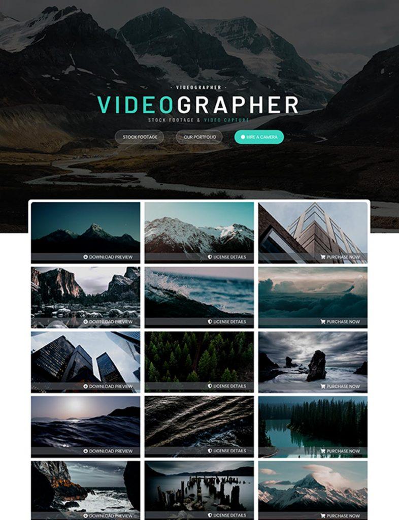 Videographer Website Template 82