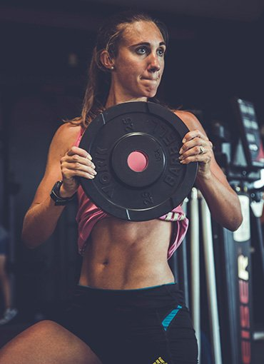 Lifestyle Gym Website Woman Weightlifting