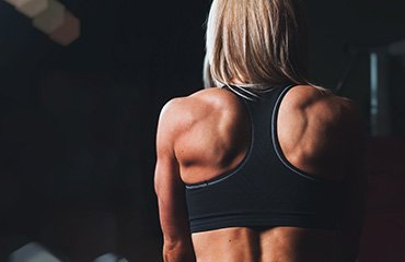 Lifestyle Gym Website Woman Back Muscles