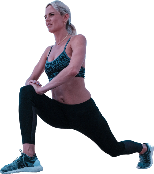 Lifestyle Gym Website Woman Stretching