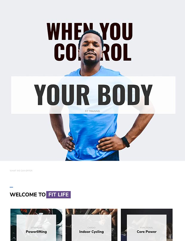 Lifestyle Gym Website Template