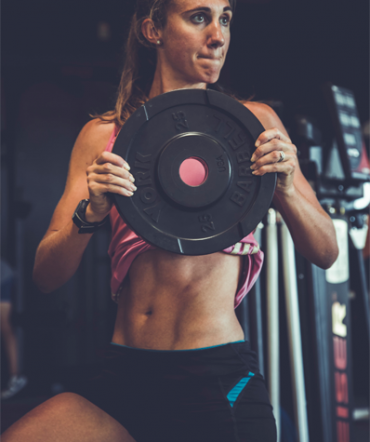 Lifestyle Gym Website Template Woman Lifting Weights