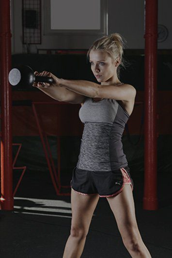 Lifestyle Gym Website Woman Working Out