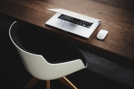 Professional Services Website Template Desk with Laptop
